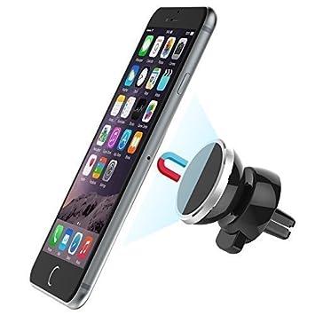 Soporte de Móvil para Coche para respiradero Yokkao® Soporte Magnético para las Rejillas de Aire del Coche 360º para iPhone/ Smartphone/ GPS y otros: ...