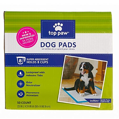 - Top Paw Dog Pads | New & Improved! 2X More Absorbent (50 Count)