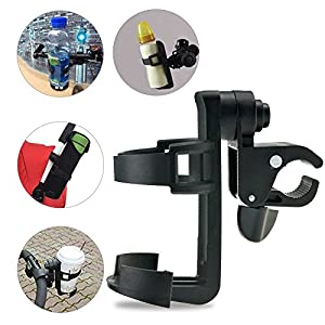 Wheelchair Cup Holders, ProCIV Bike Cup Holder fits Baby Stroller, 360 Degrees Universal Pushchair Bicycle Strollers, Bike, Mountain Bike and Wheelchair, Black (Cup Holder)