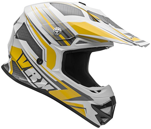 Vega-Helmets-VRX-Advanced-Dirt-Bike-Helmet--Off-Road-Full-Face-Helmet-for-Motocross-ATV-MX-Enduro-Quad-Sport-5-Year-Warranty-Yellow-Venom-Graphic-Large