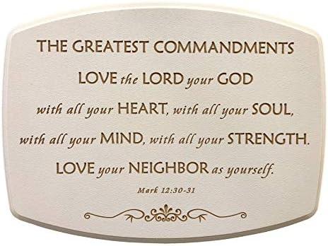 Greatest Commandments plaque