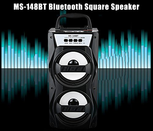 GB technical MS 148BT easily transportable higher electric power output FM radio stop wifi Bluetooth speaker Black wonderful Cost