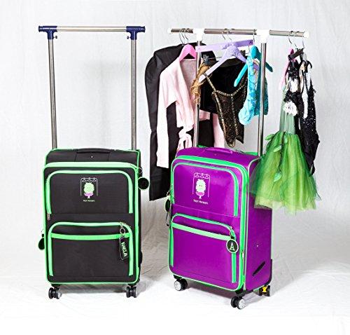 Dance bag with Garment Rack (Black) (Dance Racks Costumes)