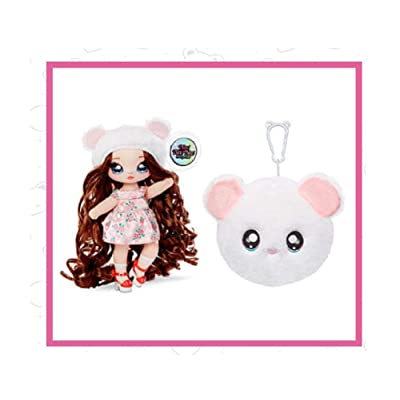 Fashion Doll Na Na Na Surprise 2-in-1 Misha Mouse with Zippered Plush Mouse POM: Toys & Games