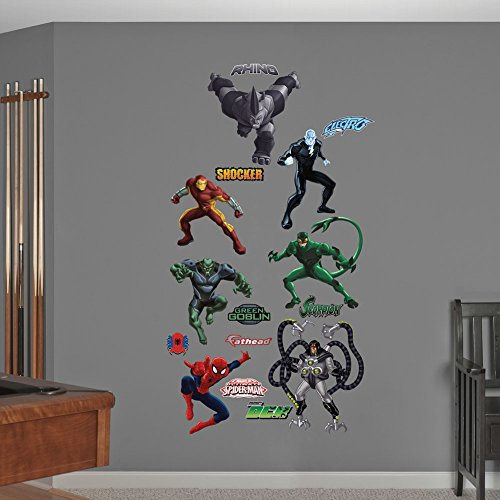 Fathead Ultimate Spider-Man Villains Collection Real Big Wall Decals