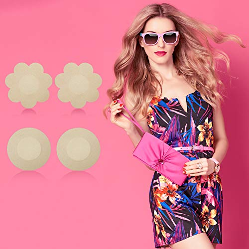 4 Pairs Women Silicone Nipple Cover Invisible Lift Pasties