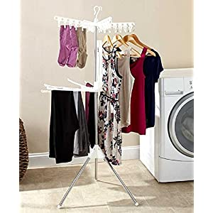 Foldable Drying Rack Laundry Clothing Stand Collapsible Portable Small Air Dry (2 Tier)