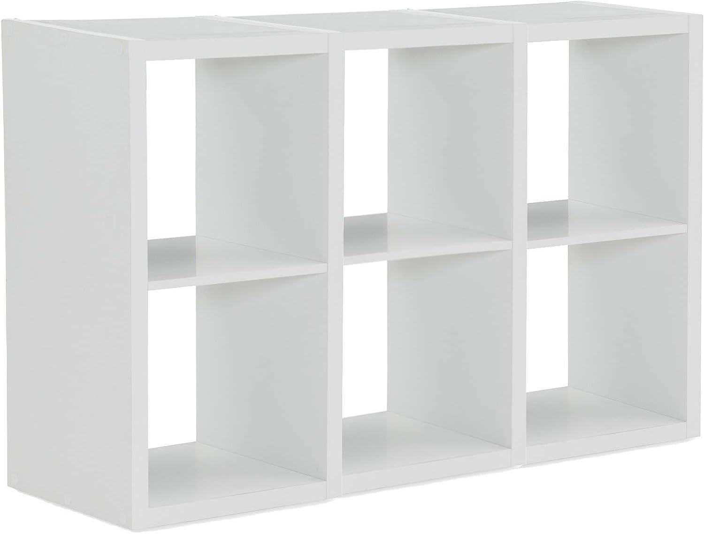 Linon Home Decor Linon Dawes 6 Cabinet White Cubby Storage