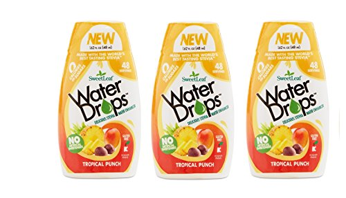 Sweetleaf Water Drops 1.62 fl.oz. 3 Pack - Tropical Punch Flavor