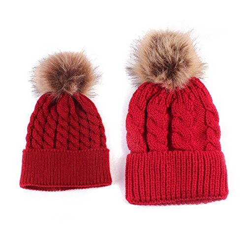 oenbopo 2PCS Parent-Child Hat Warmer d0f0fea34eba