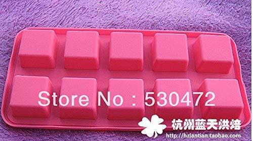 Cake Molds - Wholesale Retail 10 Hole Square Silicone Cake Mold Pudding Chocolate Moulds 21.7 10.4 - House Unicorn Baking Shapes Heart Flower Round Large Cake Bundt Square Sili