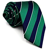 mens blue green ties - Shlax&Wing Stripes Mens Ties Blue Green Silk Silk Necktie Formal