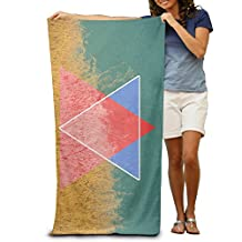 Graphic Triangle Grass Sea Quick-drying Pool Beach Towel Travel Bath Towel For Adults
