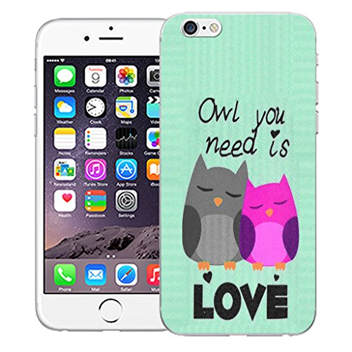 """Mobile Case Mate iPhone 6S 4.7"""" Silicone Coque couverture case cover Pare-chocs + STYLET - Black Cute Owls pattern (SILICON)"""