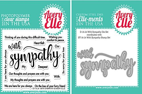 Avery Elle- With Sympathy Stamp and Die Set by Avery Elle