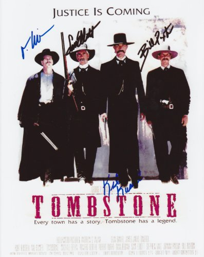 Tombstone Movie Poster Autograph on Glossy Photo Paper