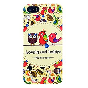 Kelaie Lovely Owl Babies Hard Case for iPhone 5C +Screen Protector