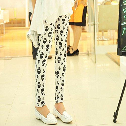 Meily(TM) Sexy Women Fashion Small Skull Render Pants Tenths Pants