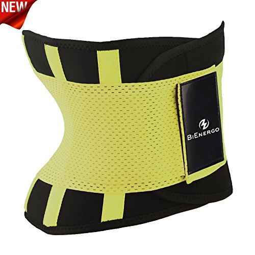 Waist Trainer Belt Unisex Waist Trimmer for Weight Loss Back and Posture Support Exercise Girdle Workout Sauna Belt (Yellow, XX-Large)
