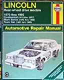 Haynes Lincoln Towncar 1970-1995, , 1563921170