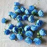 50 künstliche Rosen, 3 cm große Blüten, Hochzeitsdekoration
