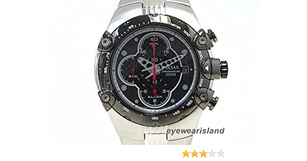Amazon.com: Pulsar Mens PF3527 Tech Gear Alarm Chronograph Silver-Tone Watch: Pulsar: Watches