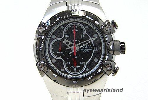 Pulsar Mens PF3527 Tech Gear Alarm Chronograph Silver-Tone Watch