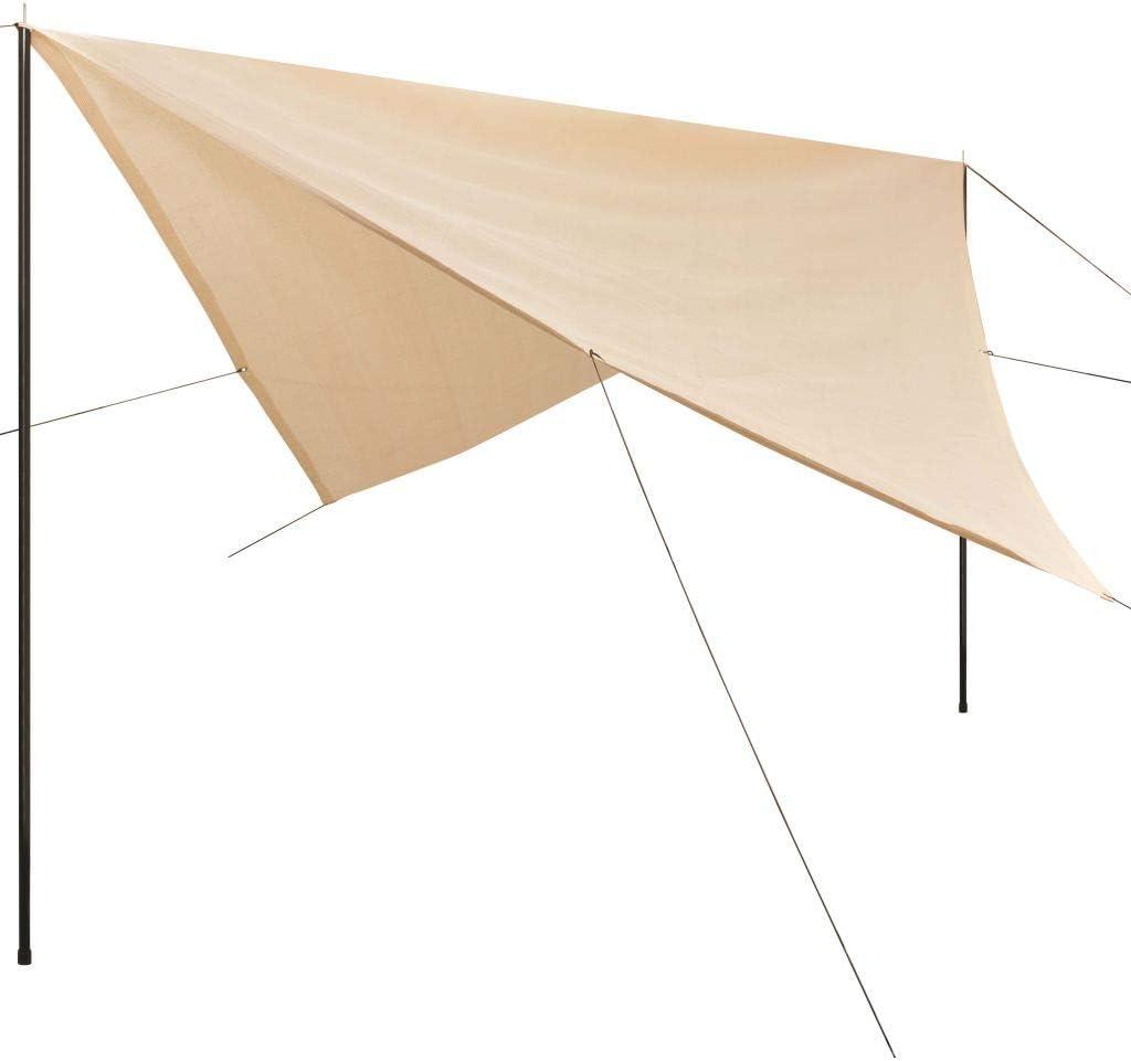 vidaXL Sonnensegel 160g//m² Weiß 2x3m HDPE Sonnenschutz Windschutz Sonnendach