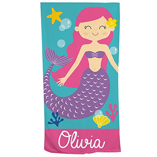 GiftsForYouNow Mermaid Personalized Beach Towel