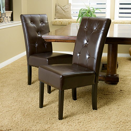 Christopher Knight Home Taylor Dining Chair Set of 2 , Chocolate Brown