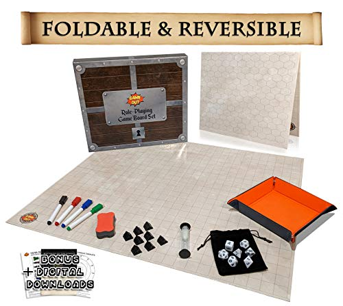 Foldable RPG Battle Grid Game Mat Set | 27