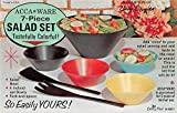 Acca Ware Salad Set Food Advertsing Vintage Non Postcard Back JD228125