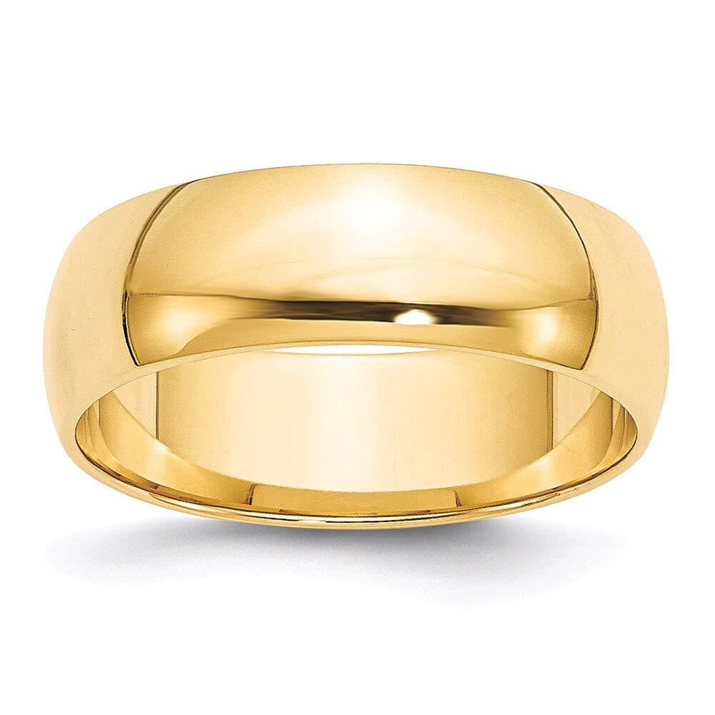 Lex /& Lu 14k Yellow Gold 6mm LTW Half Round Band Ring