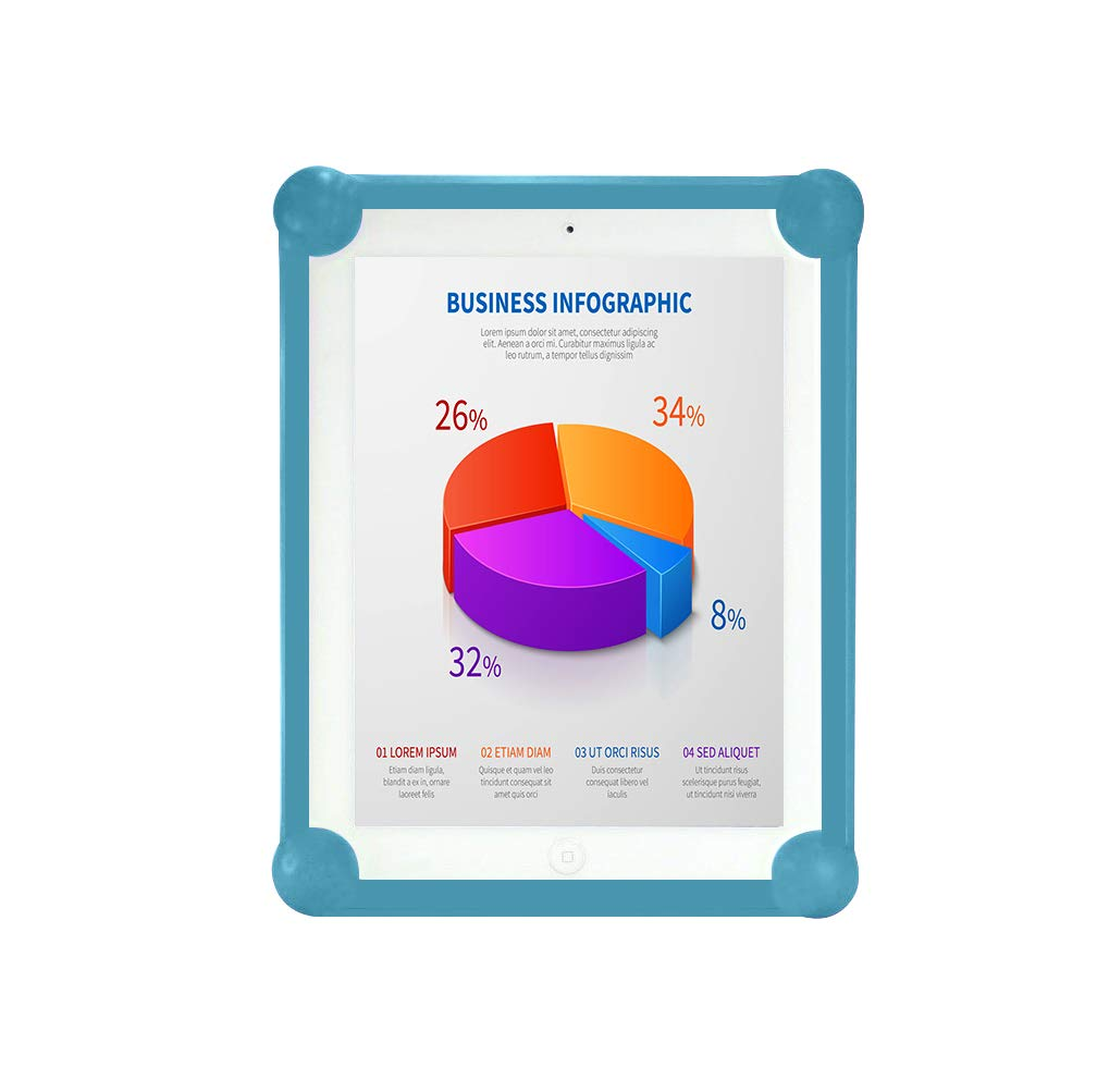 Verde Antber Funda Tablet 9 Silicona Universal Valida para Todas Las Tablets de 9 Carcasa Tablet 9 Protector Tablet 9