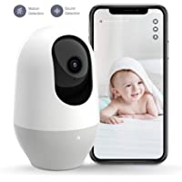 Nooie Baby Monitor, WiFi Pet Camera Indoor, 360-degree Wireless IP Nanny Camera, 1080P Home…