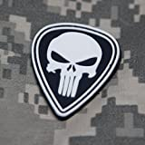 Punisher Morale Patch Diamond Black and White