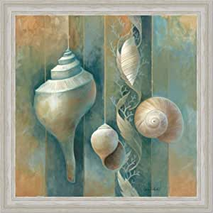 Amazon.com: Blue Seashells Bath Room Spa Decor I Art Print ...