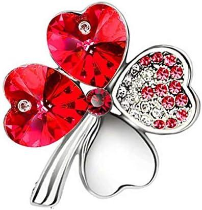 [해외]Doyime 특유의 네 잎 클로버 브 로치 핀 쥬얼리 악세사리 멀티 컬러 / Doyime Unique Four Leaf Clover Brooch Pin Jewelry Accessories Multicolor