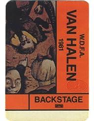 Van Halen 1981 Fair Warning Backstage Pass AA Orange