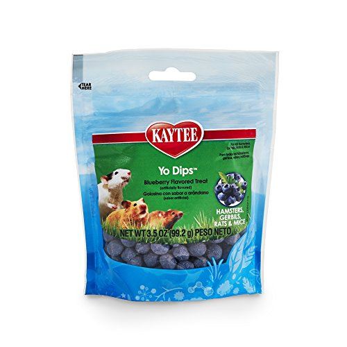 Kaytee Fiesta Blueberry Flavor Yogurt Dipped Treats for Hamster, Gerbil, Rat and Mouse, 3.5-oz bag