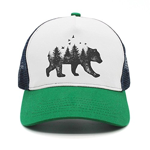 - California Bear Tattoo Drawing Nature Idea Fashion mesh Cap Peak Cap Trucker Hat