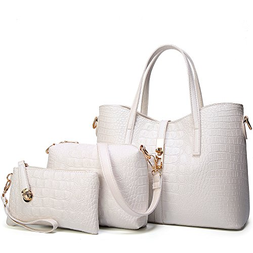 YNIQUE Purses Satchel for and b Wallets White Women Shoulder Handbags Bags Tote ra1rqR