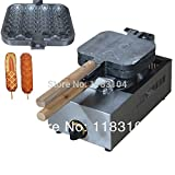 LPG Gas French Hot Dog Lolly Waffle Maker Machine Baker Iron