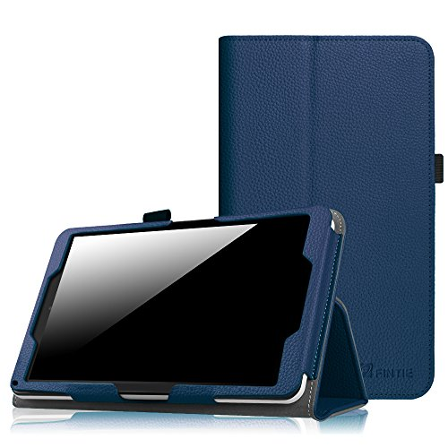 Fintie Case for 2016 NuVision TM800W560L / 2017 NuVision TM800P610L / Solo 8 TM800W610L / TM800W630L 8-Inch Windows Tablet - Premium PU Leather Folio Cover with Stylus Holder, Navy