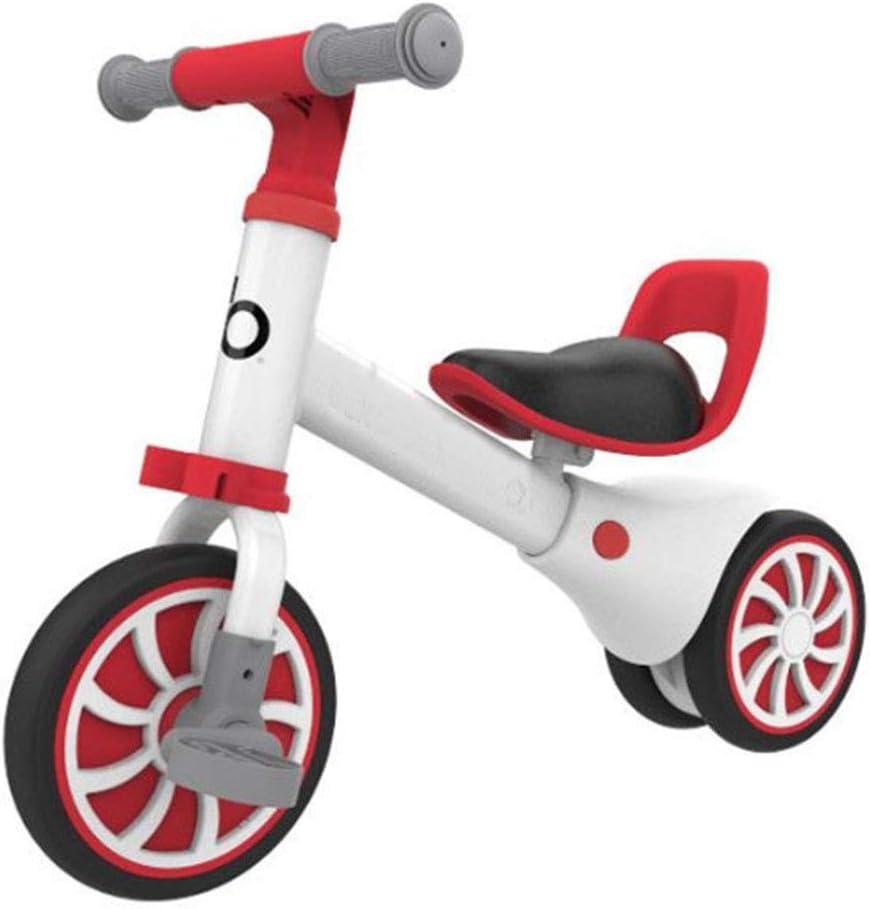MQYZS Bicicleta Sin Pedales Ultraligera,Bicicleta sin Pedales para niños y niñas | Bici 12 Pulgadas a Partir de 2-4 años con Freno,Blanco