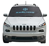 iceScreen Magnetic Windshield Frost & Snow Cover, Standard Large, Black