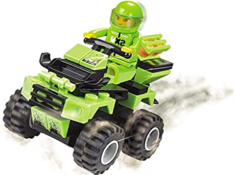 Racing Speed and Steering - 73 pcs air-piercing high speed cliff-hanger 4X4 off road bike riding like a fierce Puma on a war rampage- a must for 6+ children, Compatible To All Major - Rampage Air