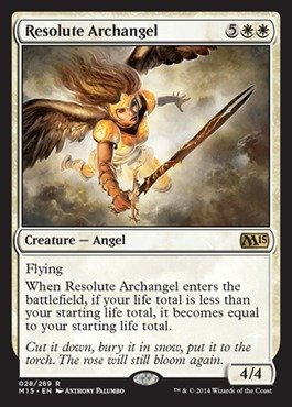 Magic: the Gathering - Resolute Archangel (028/269) - Magic 2015