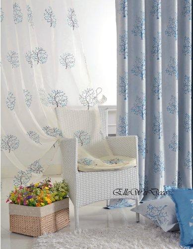Amazon.com: ElleWeiDeco Decorative Modern Embroidered Dandelion Sheer  Window Curtains/drape/panel (95u0027u0027, 84u0027u0027 Or 63u0027u0027) (Black U0026 White, 52Wx84L  Sheer): Home ...