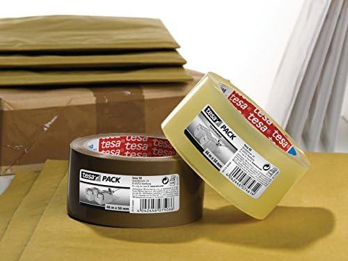 colore trasparente polipropilene acrilico silenzioso, 66 x 50 mm Pacco nastro di imballaggio forte Tesa TE58173-00000-00 tesapack Standard PP Ruidoso 66m x 50mm Marr/ón /&57167-00000-05
